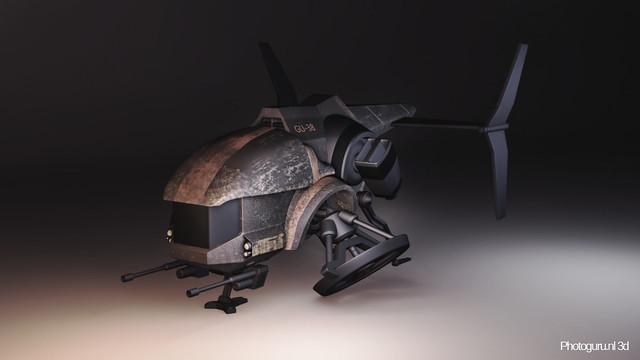 concept drone 3d render