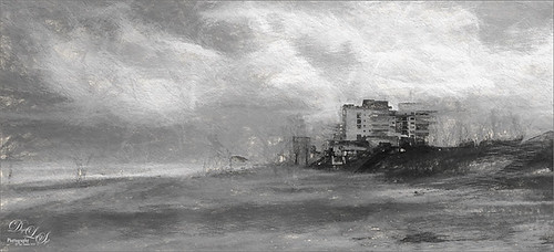 Charcoal Rendition of Ormond-By-the Sea Beach in Florida