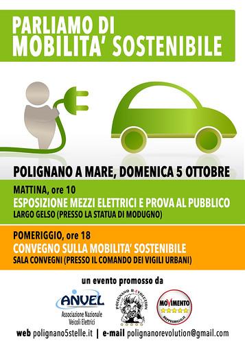 mobilità sostenibile m5s polignano gelso auto elettriche