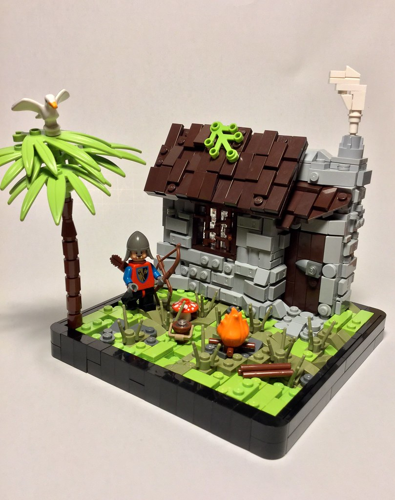 A Hearty Hunt (custom built Lego model)
