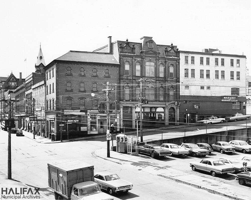 Barrington St. at Buckingham St., looking south