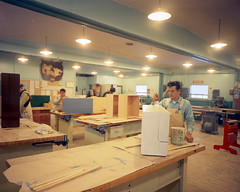 Carpentry class, Fort McMurray Vocational School, Fort McMurray, Alberta