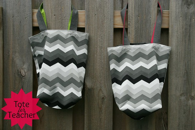 Chevron Tote for Teacher