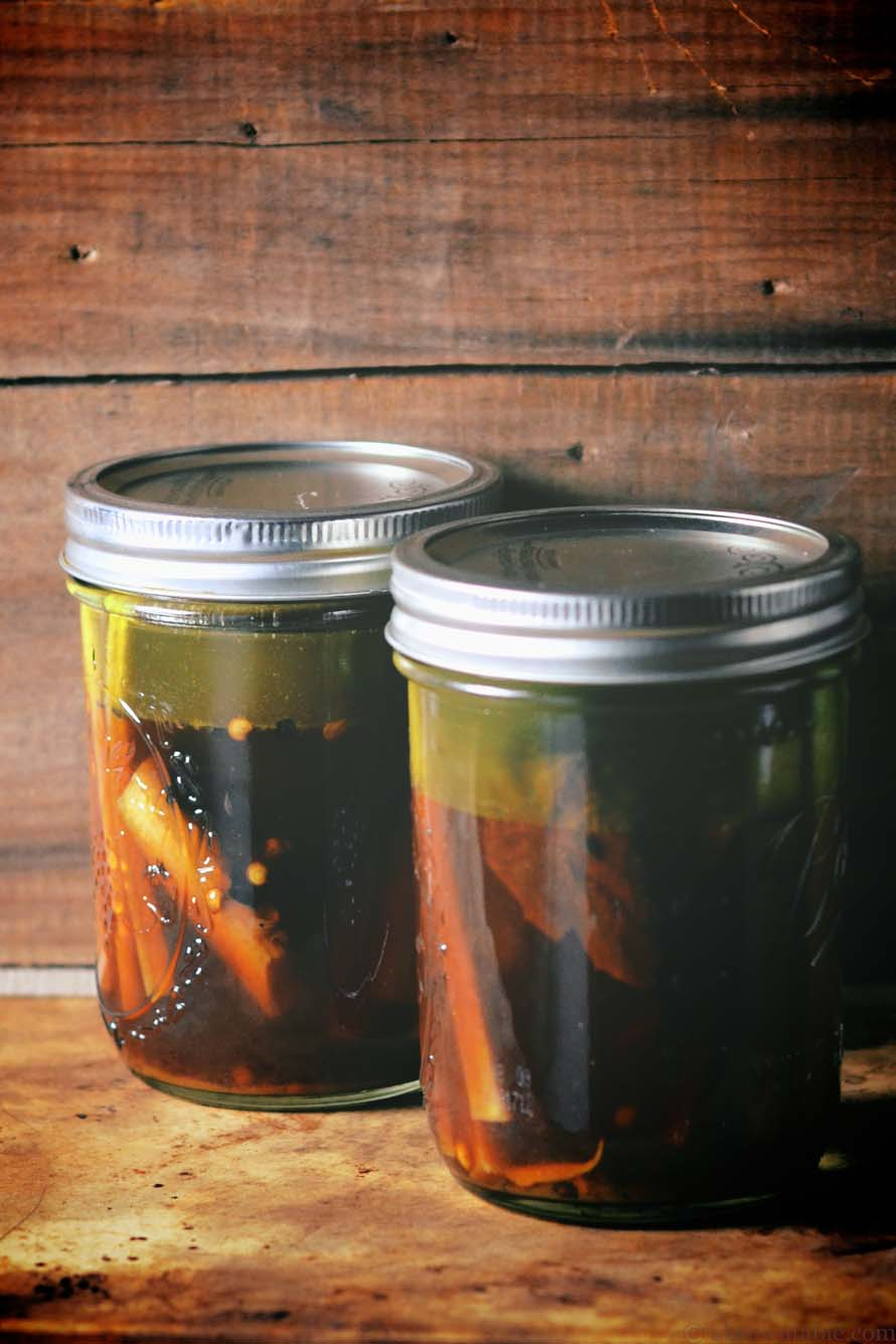 sweet and sour rhubarb pickle