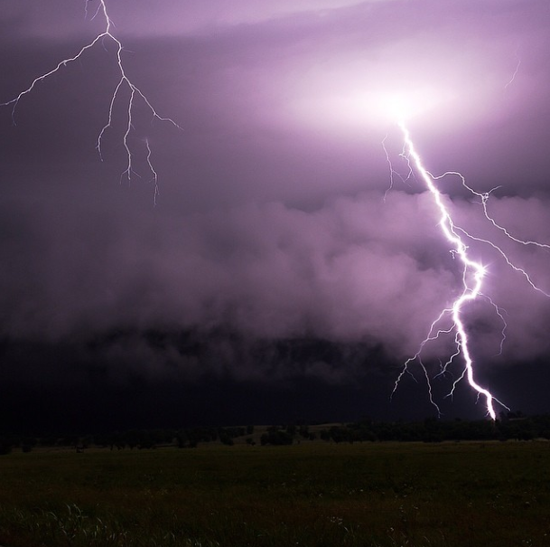 Photo of the Day: Lightning Bolt Mid-Strike Hitting a Tree