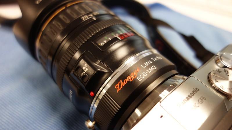ZhongYi Lens Turbo EF/MFT + Canon EF 28-105