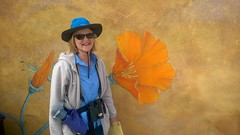 Merri with California poppy mural