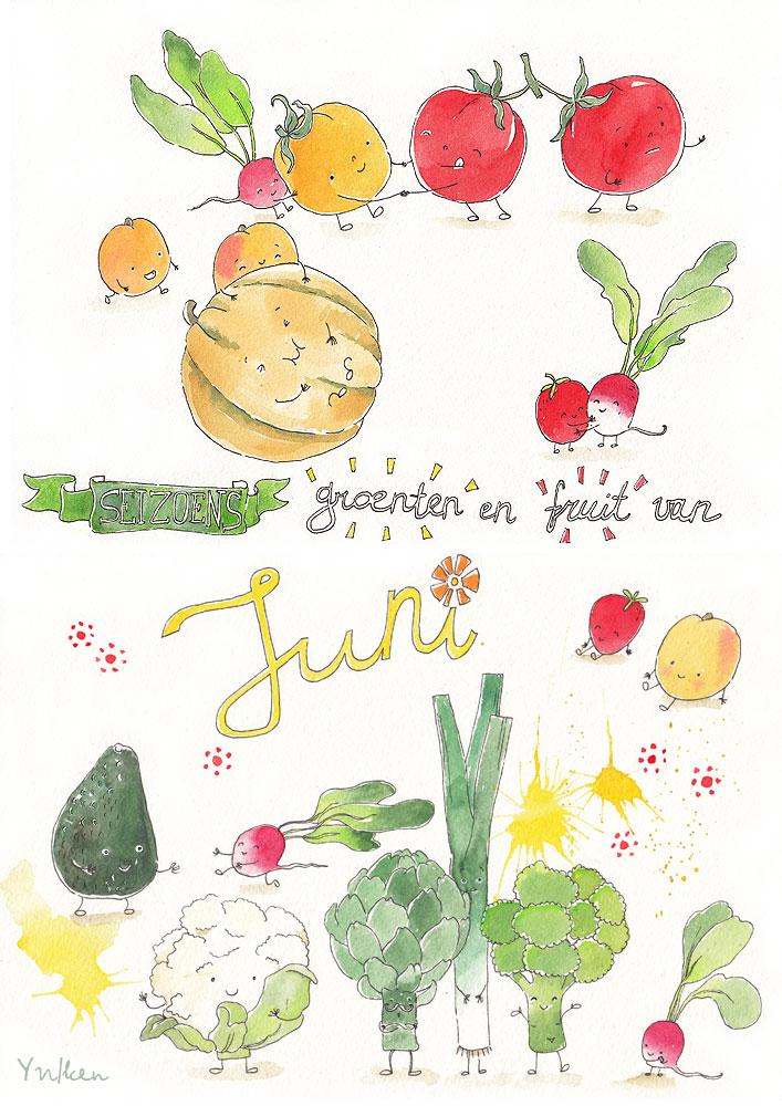 Seizoensgroenten en -fruit - JUNI
