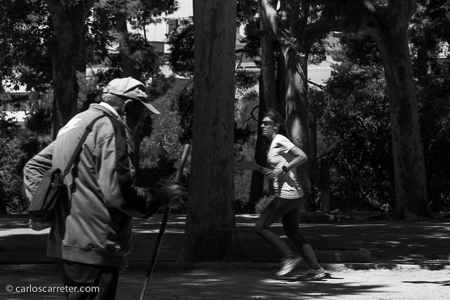 Gente en el Parque Grande