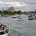Seine river traffic, towards Louvre ©D&S McSpadden
