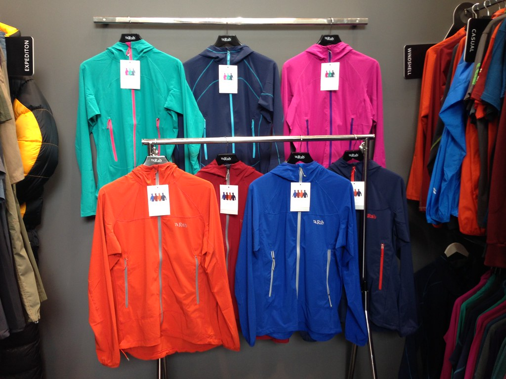 Rab Ventus (front) and Lunar (back) Jackets