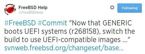 Mosntantól UEFI-kompatibilisek lesznek a FreeBSD image-ek