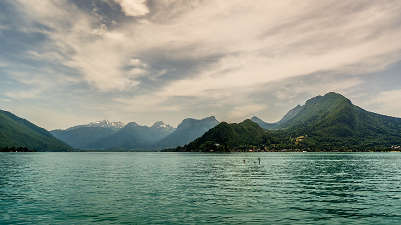 Paddleboarding, Lake Annecy