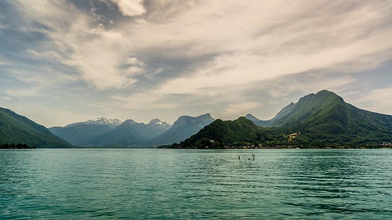 Paddleboarding, Lake Annecy