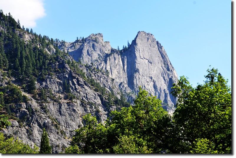 Sentinel Rock from Yosemite Visitor Center