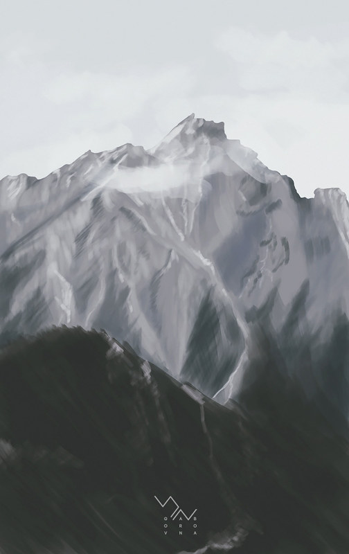 mountain speedpaint