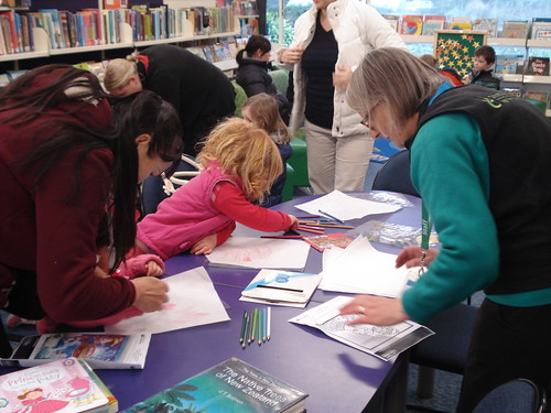 Matariki leaf rubbing at Hornby Library