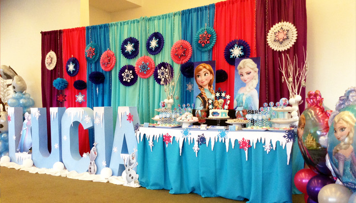 Frozen Backdrop and Decorations