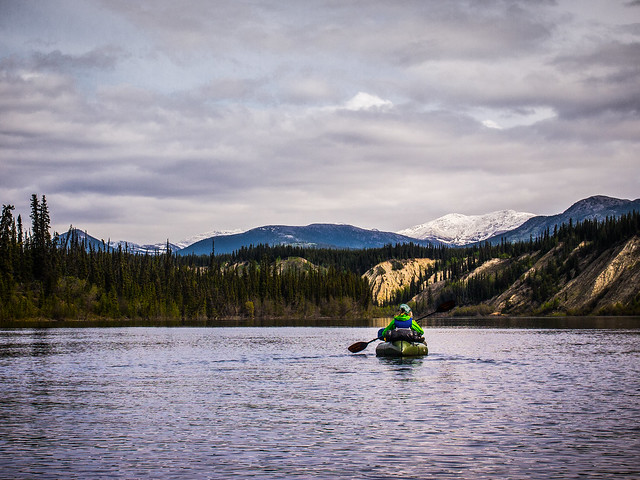 Packrafting the Teslin River