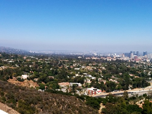 LA looks beautiful from the Getty Museum.