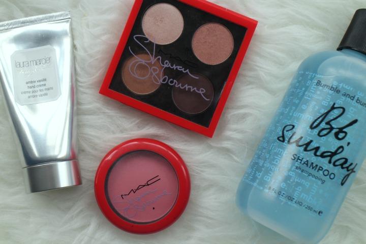 June Empties, Mac Osbournes, Duchess Eyeshadow Palette, Bumble and Bumble Sunday Shampoo, Laura Mercier