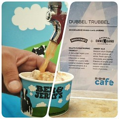 Dubbel Trubbel!! The @WIREDInsider crew just sent me a few pics from #WiredCafe at @Comic_Con. We're serving @benandjerrys pairings w/ @BreweryOmmegang. These pics are makin' me thirsty!! #SDCC #craftbeer #happyhour