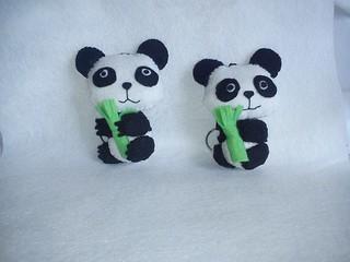 Osos Pandas de Fieltro