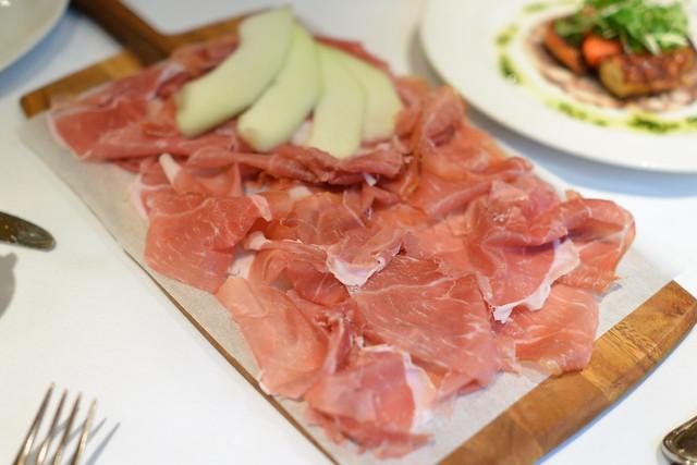 Prosciutto di Parma 'Riserva' seasonal fruit