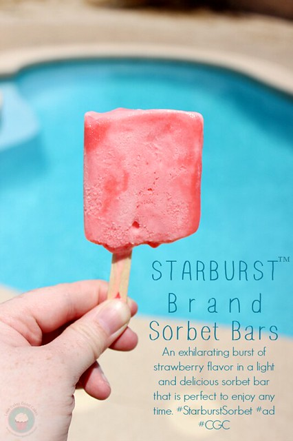 New STARBURST™ Brand Sorbet Bars pack an exhilarating burst of strawberry flavor in a light and delicious sorbet bar that is perfect to enjoy any time. #StarburstSorbet #ad #CGC
