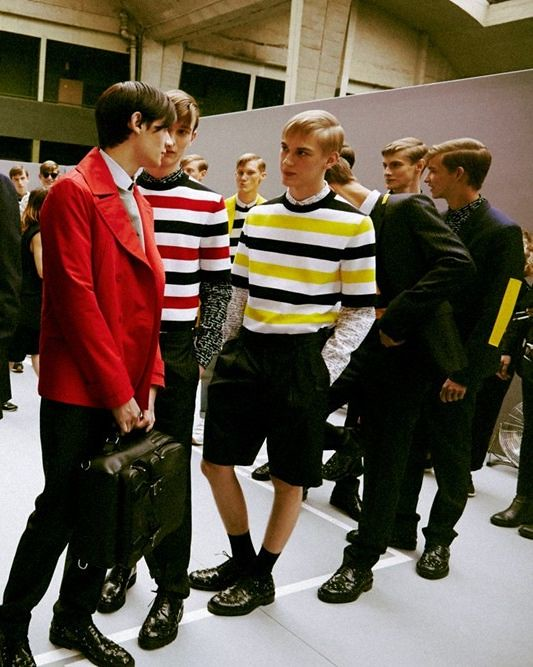 Dominik Sadoch3178_SS15 Paris Dior Homme_Michael Bernasiak, Matthieu Gregoire, Timur Simakov, Dominik Hahn(dazeddigital.com)