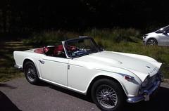 automobile, automotive exterior, vehicle, triumph tr250, antique car, classic car, land vehicle, convertible, sports car,