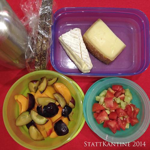 StattKantine 21.07.14 - Käse, Bauerbrot, Obst