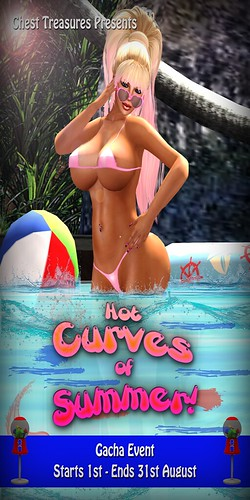 Hot Curves Of Summer! Poster