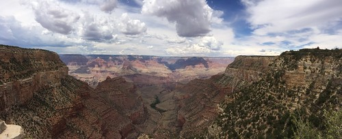 Grand Canyon panorama from outside Bright Angel Lodge