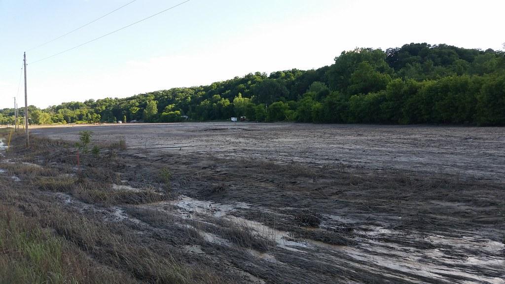 Mud covering farm fields - Henderson, MN