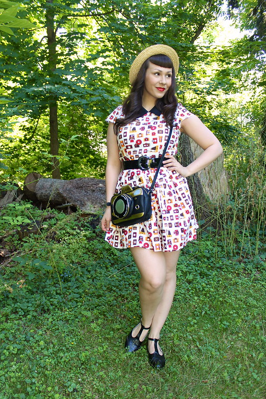 camera dress and bag