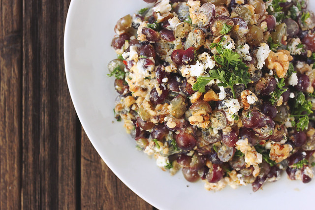 Red Grape and Goat Cheese Salad with Walnuts {gluten-free}