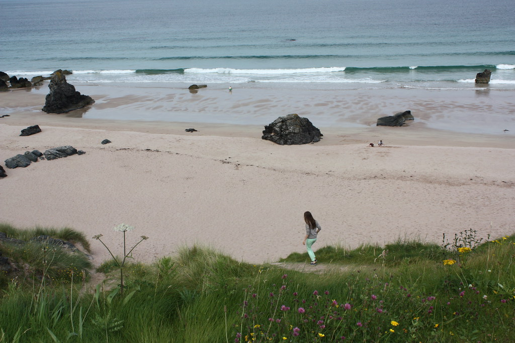 At Durness beach