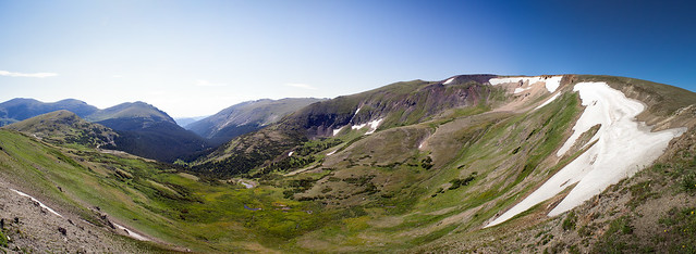 Panorama of Rocky Mountain National Park.