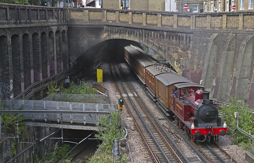 Metropolitan No.1 emerging from the Clerkenwell Tunnel