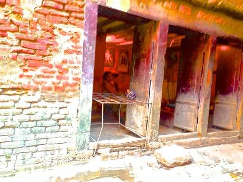overexposed shop in Kathmandu