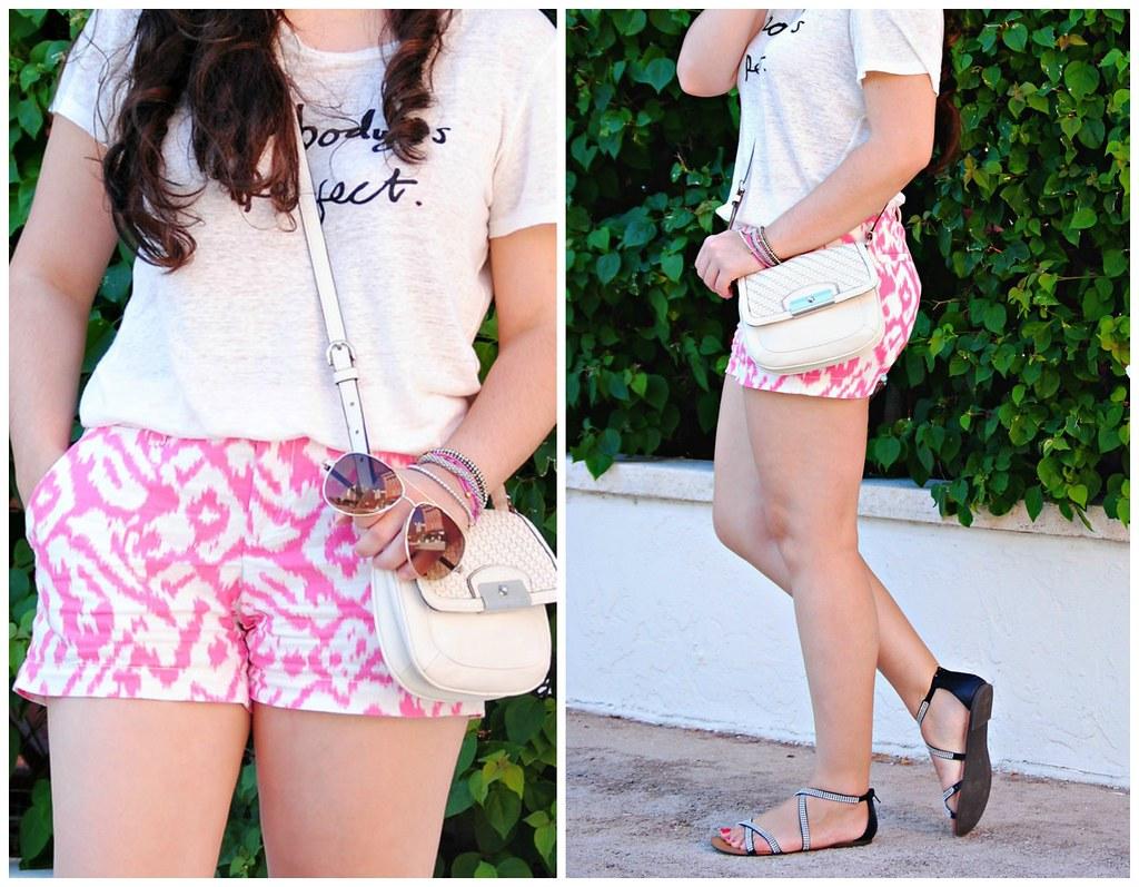 ikat pink shorts