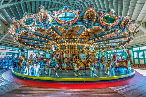 Dentzel Carousel in Full by Geoff Livingston