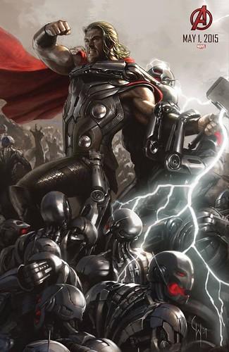 140728(2) - 2015年電影《Avengers: Age of Ultron》(復仇者聯盟2:奧創紀元)9大超級英雄合體海報出爐、台灣4/22隆重上映! 7