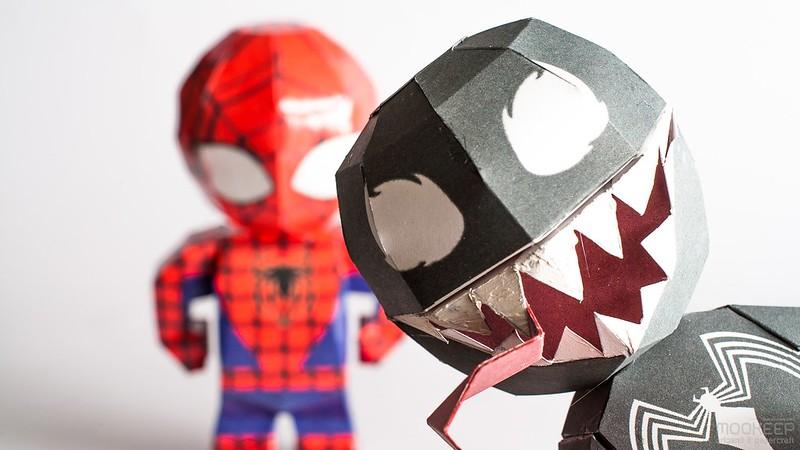 วิธีทำของเล่นโมเดลกระดาษสไปเดอร์แมน (Spiderman Papercraft Model) 006