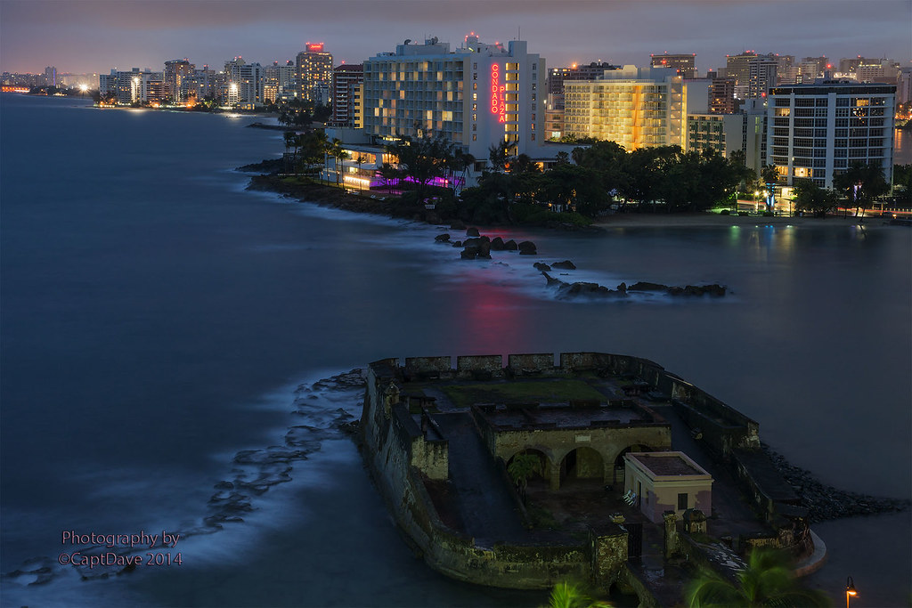 San Gerónimo de Boquerón, San Juan And Condado At Night 6X4