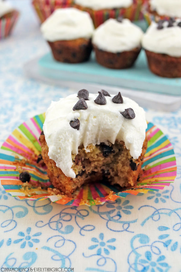 Chocolate Chip Zucchini Cupcakes