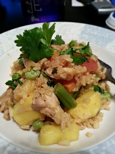 curry chicken and pineapple fried rice