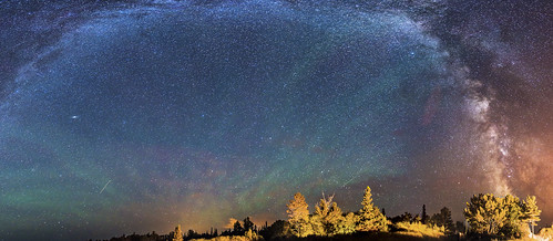 pine night way stars shower rainbow michigan superior galaxy astrophotography astronomy milky stitched meteor the perseid