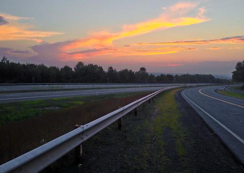 road sunset sky highway boundaries odc iphone5